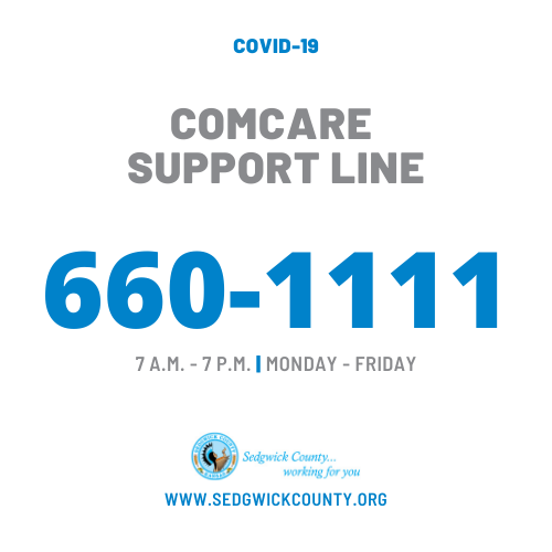 Contact COMCARE's Support Line at (316) 660-1111